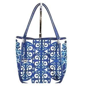 BRIGHTON blue tapestry tote handbag